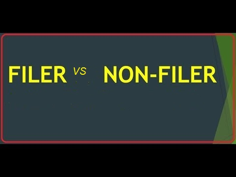 who is filer and non-filer?