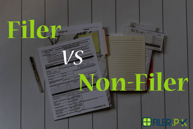 Who is filer and non-filer in Pakistan?